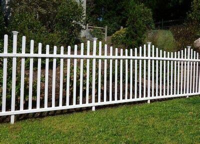 Portable Dog Fence Outdoor Pet White Vinyl Garden No Dig ...