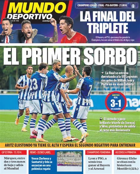 Portada de Mundo Deportivo Gipuzkoa del domingo 23 de ...