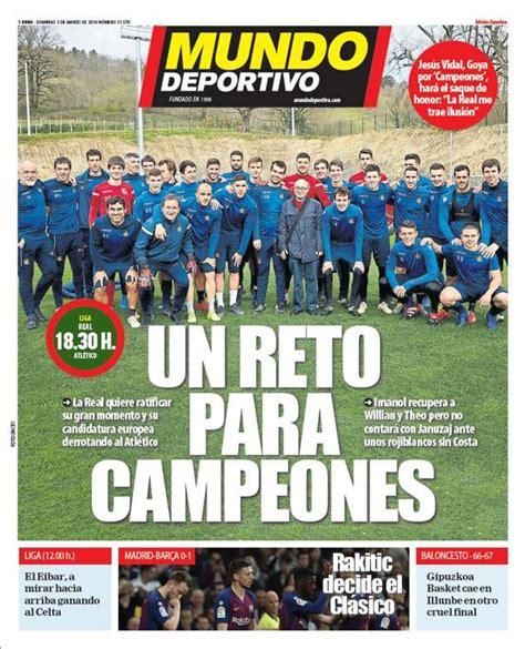 Portada de Mundo Deportivo Gipuzkoa del domingo 3 de marzo ...