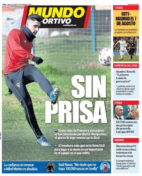 Portada de Mundo Deportivo Gipuzkoa del lunes 20 de abril ...