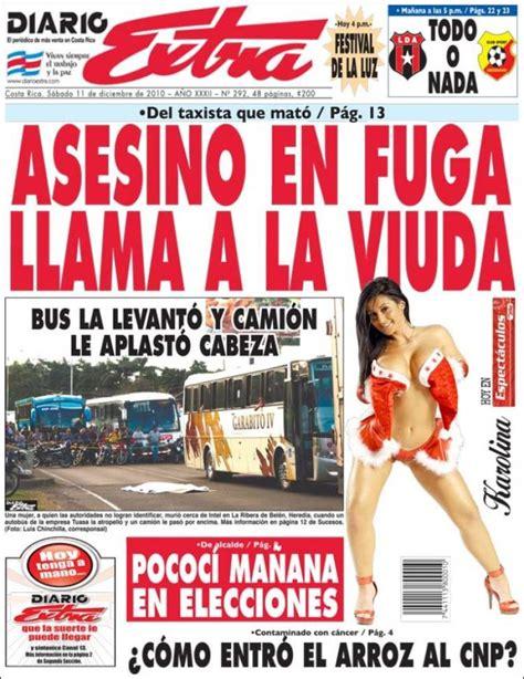 Portada del periódico Diario Extra  Costa Rica . Todos los ...