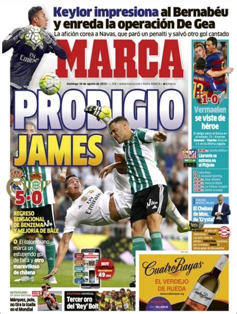 Portada Marca 30/08/2015 | Periodico deportivo, Portadas ...