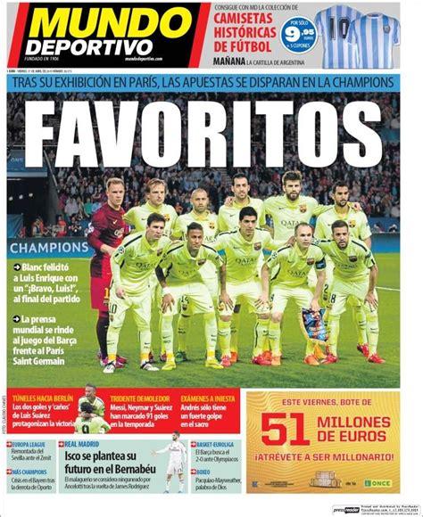Portada Mundo Deportivo 17/04/2015 | Portadas, Portadas ...