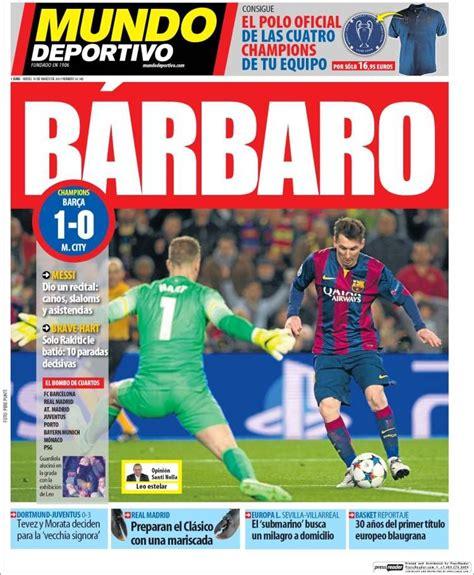 Portada Mundo Deportivo 19/03/2015 | Portadas, Deportes ...