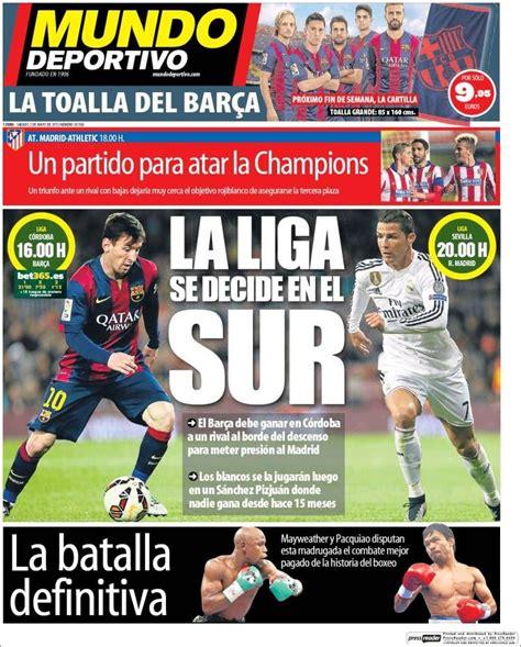 Portada Mundo Deportivo 2/05/2015 | Mundo deportivo, Messi ...