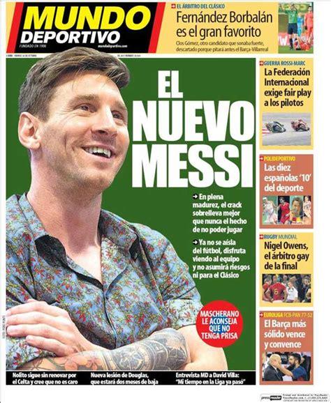 Portada Mundo Deportivo: El nuevo Messi   FC Barcelona ...