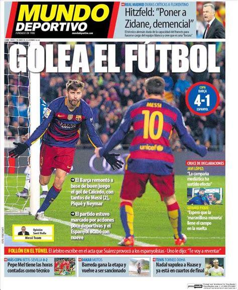 Portada Mundo Deportivo: Golea el fútbol   FC Barcelona ...