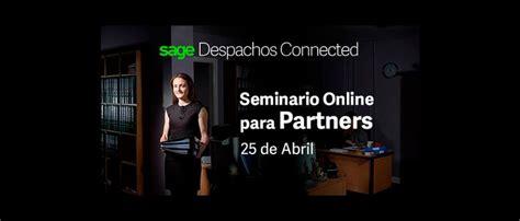 Portal Partners Sage Seminario online Sage Despachos Connected