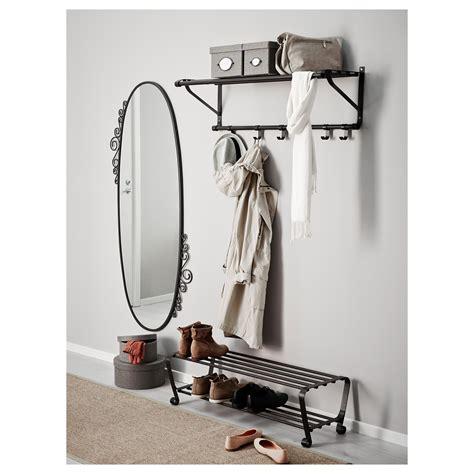 PORTIS Perchero/estante, negro   IKEA