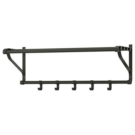 PORTIS Perchero/estante   negro   IKEA