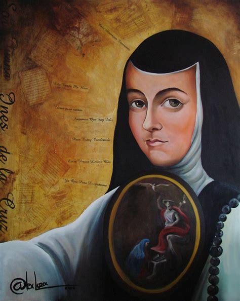 Portrait of Sor Juana Ines de la Cruz Painting by Alex Loza