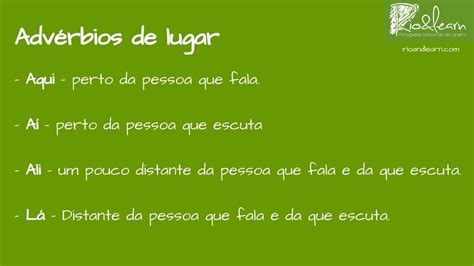 Portuguese Adverbs of Place   A Dica do Dia, Free ...