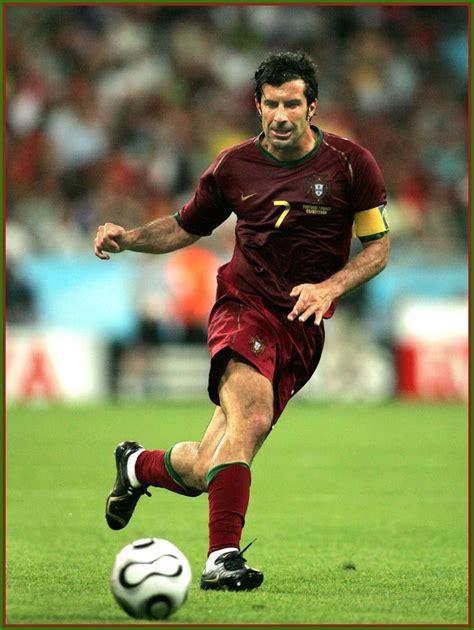 Portuguese international football superstar Luís Figo ...