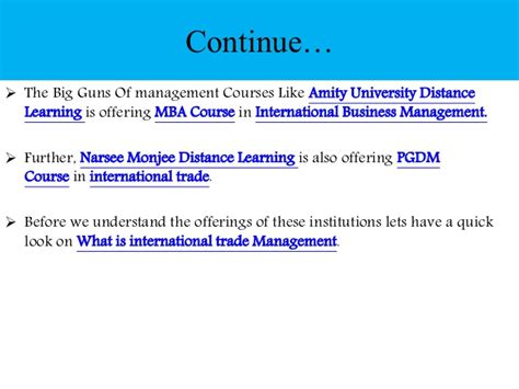 Post Graduation in International Trade Management: Scope ...