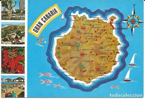 [postal] mapa de la isla de gran canaria  sin c   Comprar ...