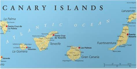 Póster Islas Canarias Mapa Político • Pixers   Vivimos ...