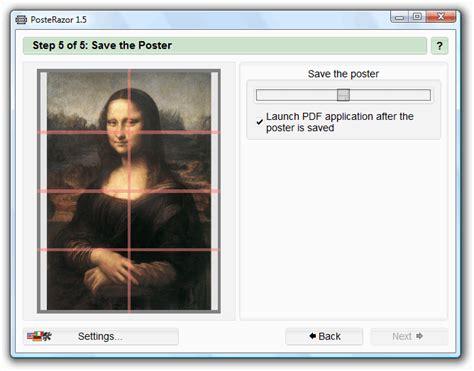 PosteRazor: crea un póster grande con tu impresora común