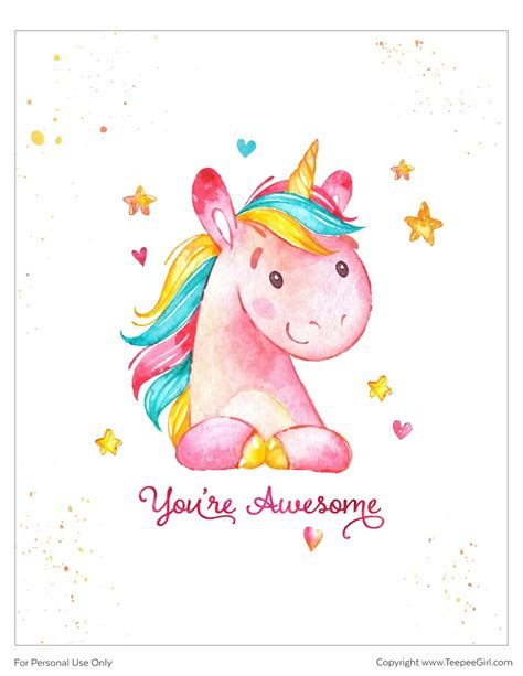 Pósters de Unicornios para Imprimir Gratis. | Ideas y ...