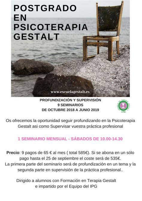 Postgrado Gestalt   Instituto de Psicoterapia Gestalt IPG ...