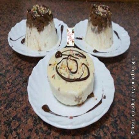 Postre de chocolate blanco