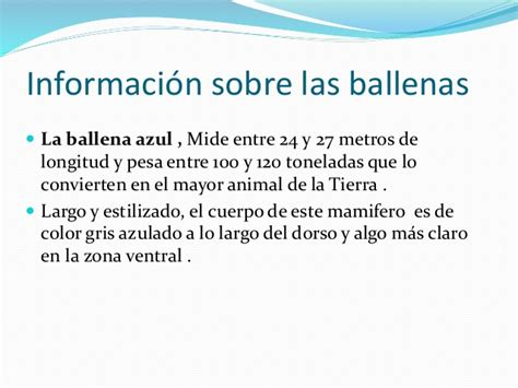 Power point de las ballenas
