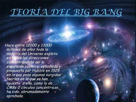 Power point la teoría del big bang cristina