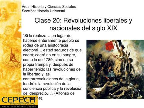 PPT   Clase 20: Revoluciones liberales y nacionales del ...