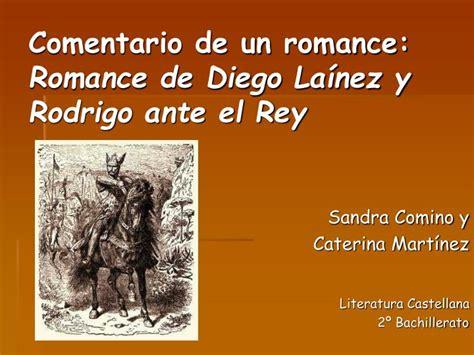 PPT   Comentario de un romance: Romance de Diego Laínez y ...