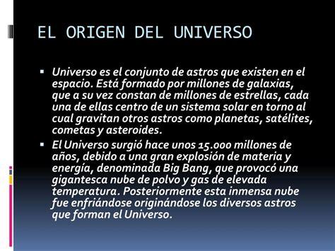 PPT   EL ORIGEN DEL UNIVERSO PowerPoint Presentation, free ...