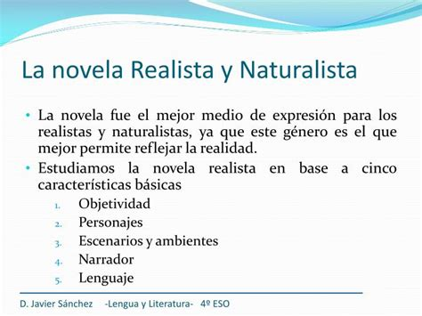 PPT   El Realismo y el Naturalismo PowerPoint Presentation ...