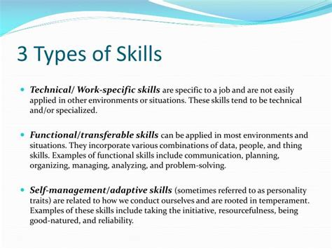 PPT   Leverage Your Transferable Skills PowerPoint ...