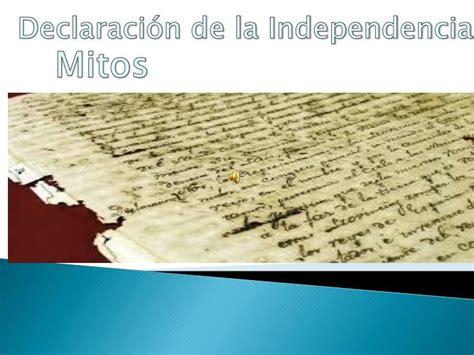 PPT   Mitos de la Declaración de Independencia PowerPoint ...