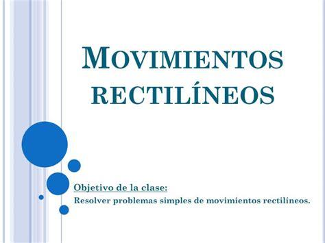 PPT   Movimientos rectilíneos PowerPoint Presentation   ID ...