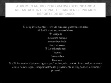 PPT   Muy infrecuentes 1 6% de tumores gastrointestinales ...