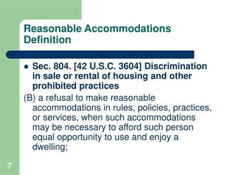 PPT   Reasonable Accommodations & Reasonable Modifications ...