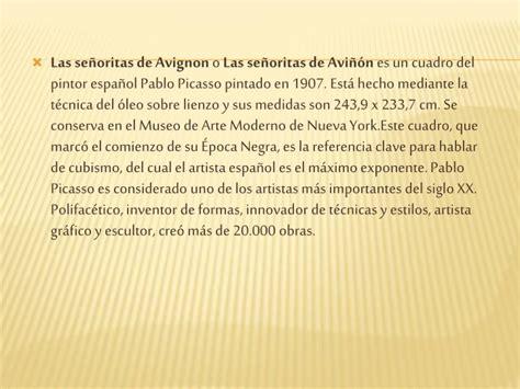 """PPT   """" Las señoritas de Avignon """" de Pablo Picasso ..."""