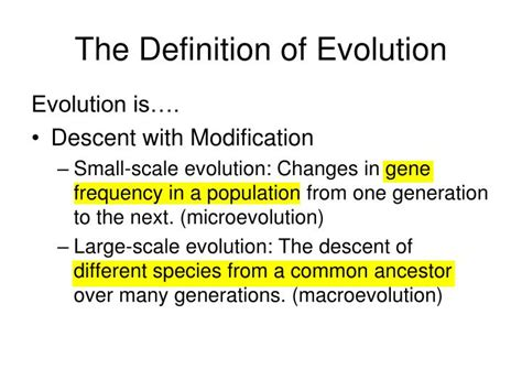 PPT   The Theory of Evolution PowerPoint Presentation   ID ...