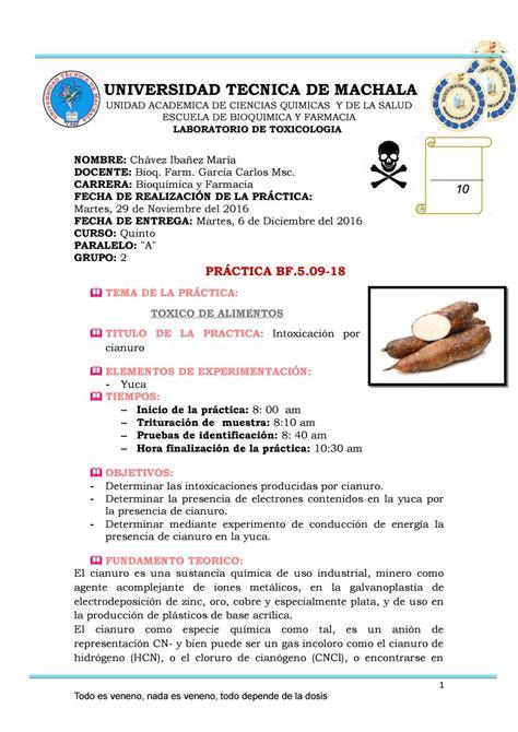 Practica 18 intoxicacion por cianuro by Maria chavez   Issuu