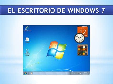 Practica docente Escritorio de Windows 7