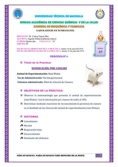 Practica n°1 intoxicacion por cianuro by Katherine Aguilar ...