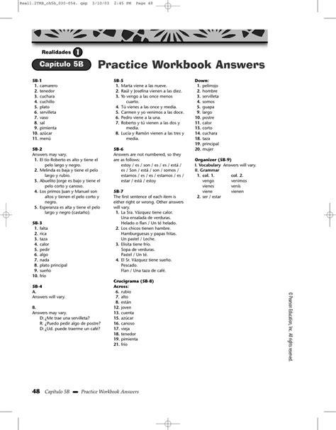 Practice Workbook Answers