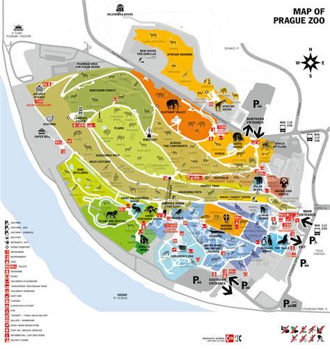 Prague Zoo map