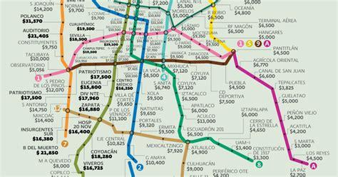 Precios promedio de venta y renta cerca de las líneas de ...