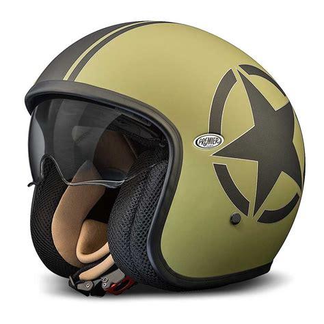Premier Jet Vintage Helmet   Military Green / Black Star ...