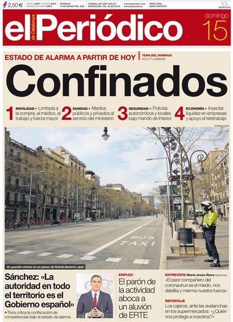 Prensa hoy: Portadas de los periódicos del 15 de marzo del ...