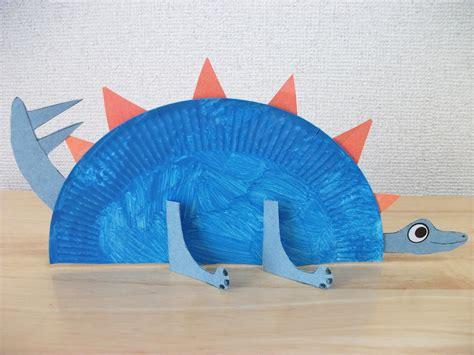 Preschool Crafts for Kids*: Paper Plate Stegosaurus ...