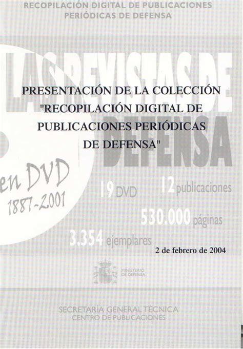 PRESENTACIÓN DE LA COLECCIÓN  RECOPILACIÓN DIGITAL DE ...