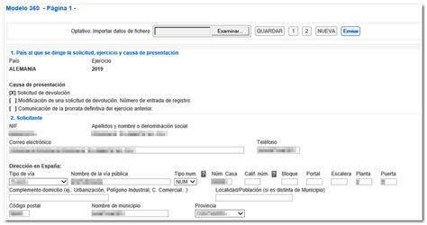 Presentación de la solicitud de devolución del IVA a ...