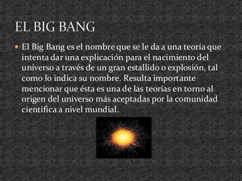 Presentacion del big bang