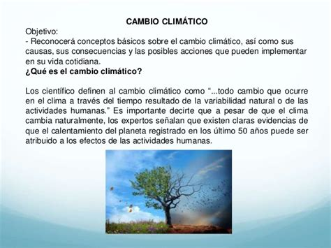 Presentación del curso Cambio Climático